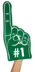 Green Foam Finger