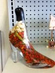 high heel glass shoe